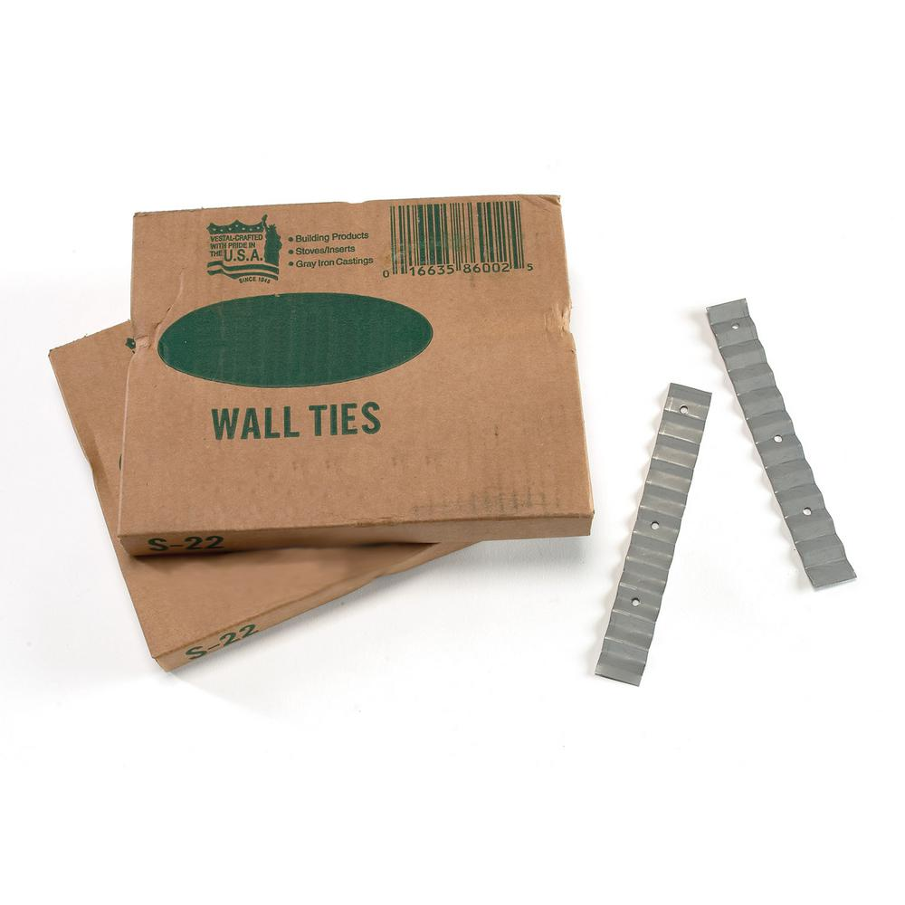 7/8 in. x 6-3/8 in. 22-Gauge Wall Ties (Box of 100)