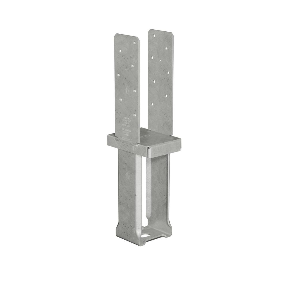 4 in. x 6 in. 12-Gauge Hot-Dip Galvanized Standoff Column Base with SDS Screws