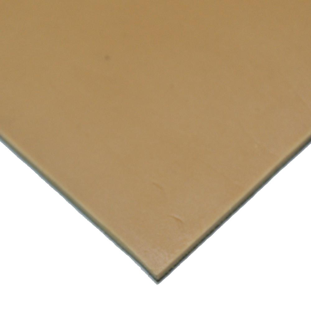 Pure Gum Rubber 1/8 in. x 36 in. x 96 in. Tan Commerical Grade 40A Rubber Sheet