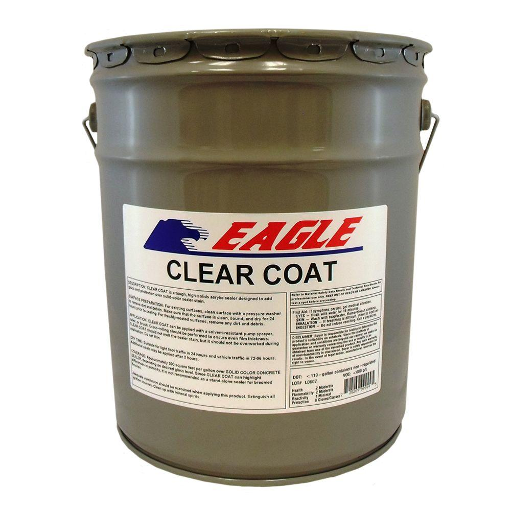 5 gal. Clear Coat High Gloss Oil-Based Acrylic Topping Over Solid Sealer