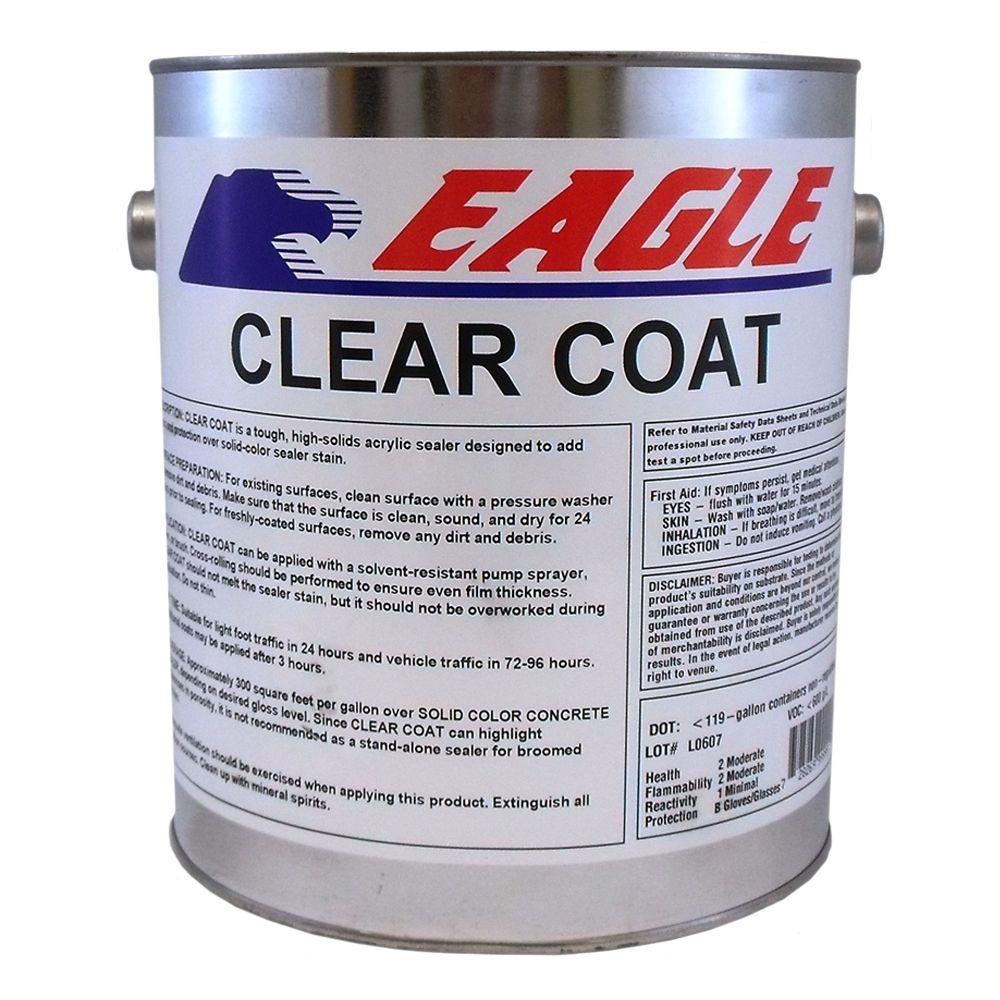 1 gal. Clear Coat High Gloss Oil-Based Acrylic Topping Over Solid Sealer