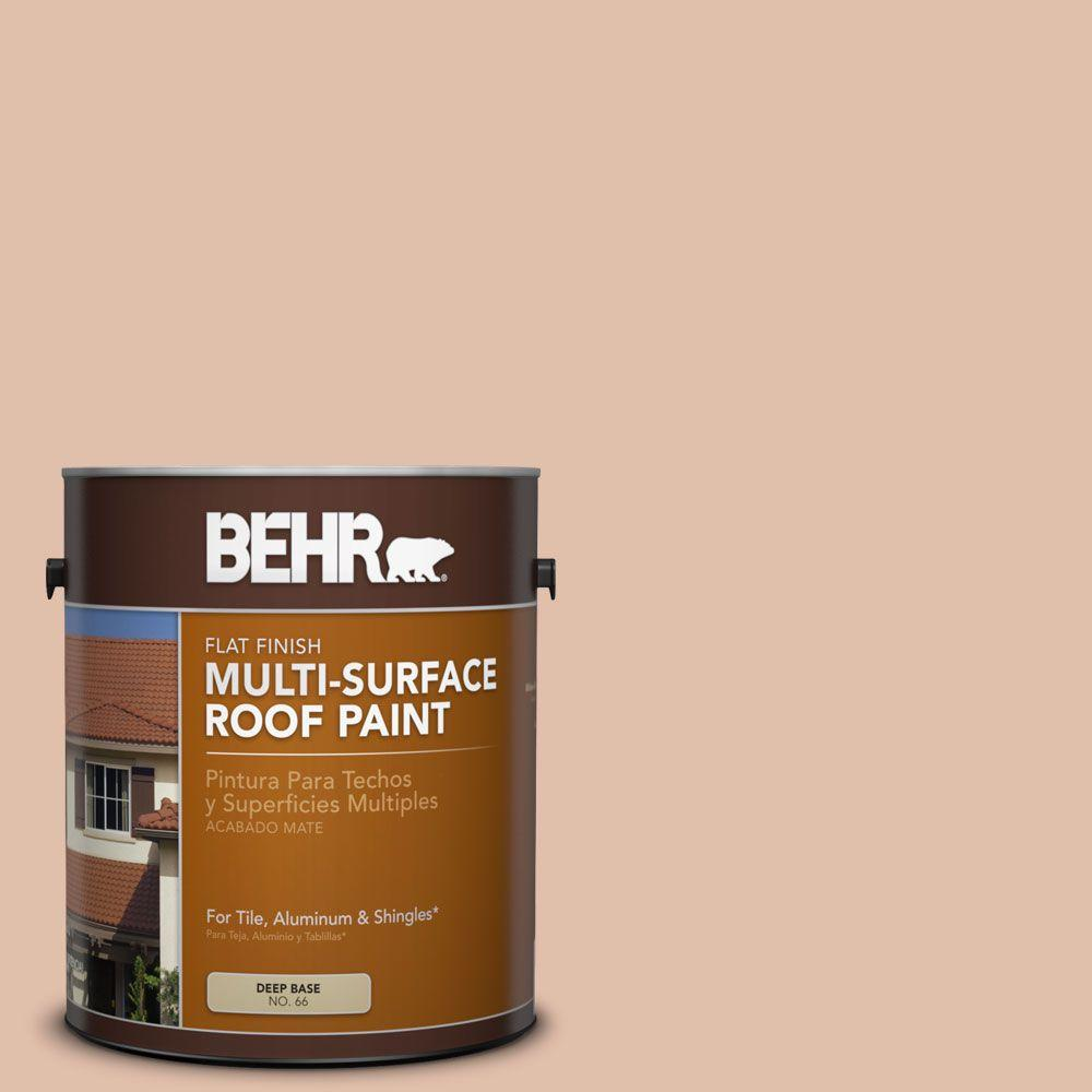 1-gal. #RP-21 Sandcastle Flat Multi-Surface Roof Paint
